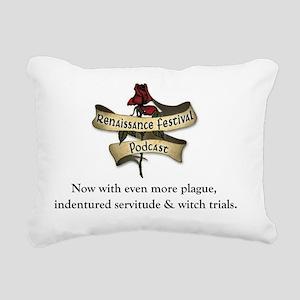 Ren Fest Podcast Logo Rectangular Canvas Pillow