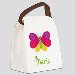 Marie-the-butterfly Canvas Lunch Bag