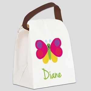 Diane-the-butterfly Canvas Lunch Bag