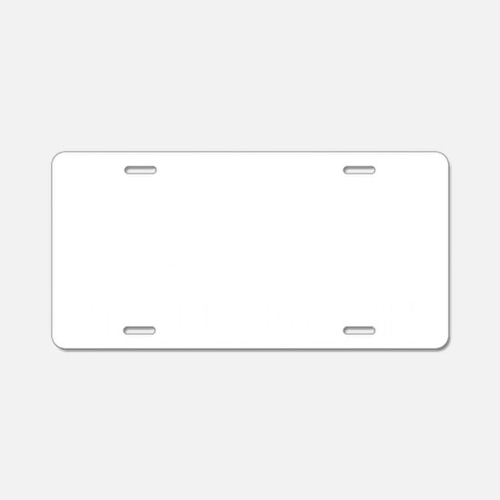 VeganBecauseIgiveaShitWHITE Aluminum License Plate