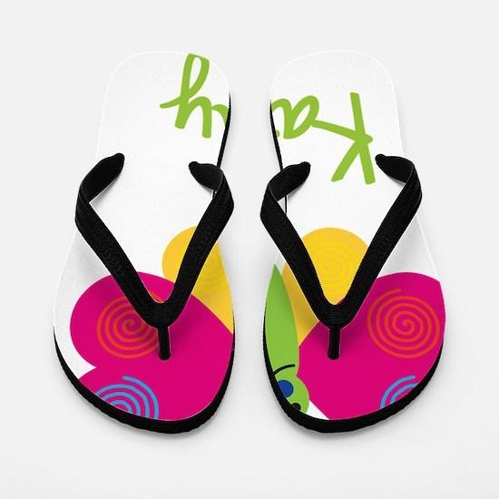 Kathy-the-butterfly Flip Flops