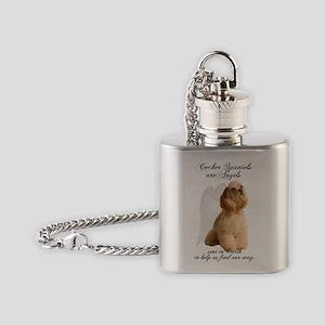 Angel Cocker Flask Necklace