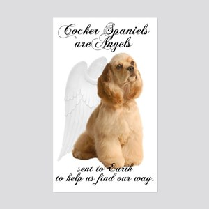 Angel Cocker Sticker (Rectangle)