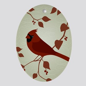 CardinalART Oval Ornament