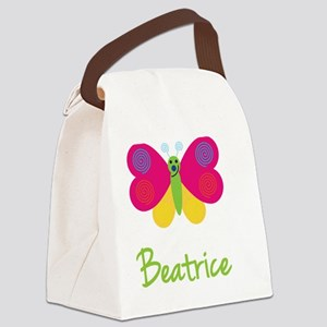 Beatrice-the-butterfly Canvas Lunch Bag