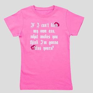 Kiss My Ass 10x10 Dark Shirt Girl's Tee