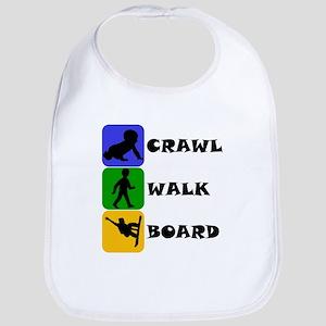 Crawl Walk Board Bib
