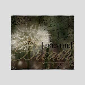 1-Breathe Throw Blanket