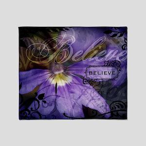 12-believe Throw Blanket