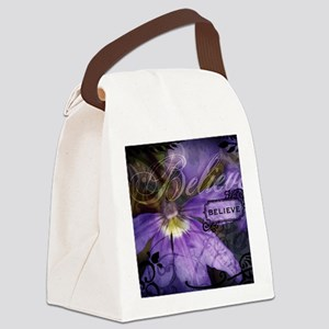 12-believe Canvas Lunch Bag