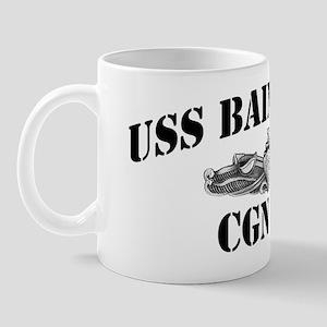 bainbride cn black letters Mug