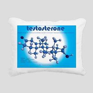 calendar - testosterone Rectangular Canvas Pillow