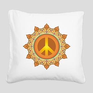 Peace Symbol Square Canvas Pillow