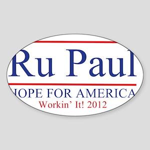 Ru Paul 2012 Sticker (Oval)