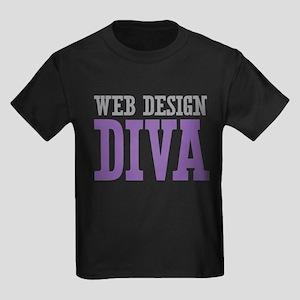 Web Design DIVA Kids Dark T-Shirt