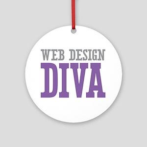 Web Design DIVA Ornament (Round)
