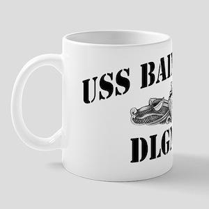 bainbride dln black letters Mug