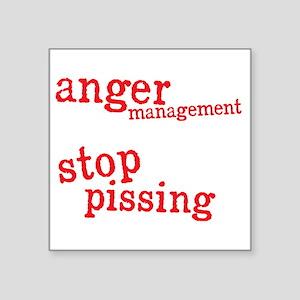 """angermanagementdrk Square Sticker 3"""" x 3"""""""