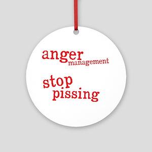 angermanagementdrk Round Ornament