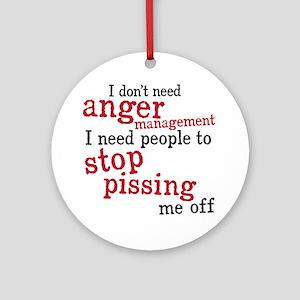 angermanagement Round Ornament