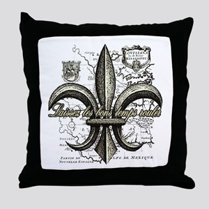New Orleans Laissez les bons temps ro Throw Pillow