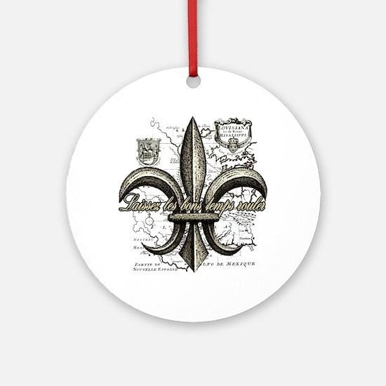 New Orleans Laissez les bons temps  Round Ornament