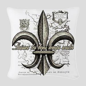 New Orleans Laissez les bons t Woven Throw Pillow