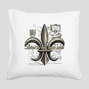 New Orleans Laissez les bons  Square Canvas Pillow