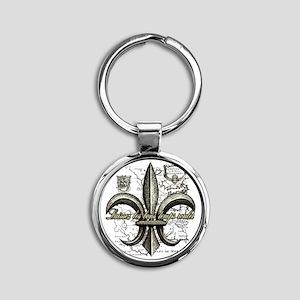 New Orleans Laissez les bons temps  Round Keychain