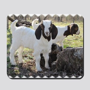 Twin goats Mousepad
