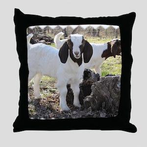 Twin goats Throw Pillow