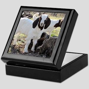 Twin goats Keepsake Box