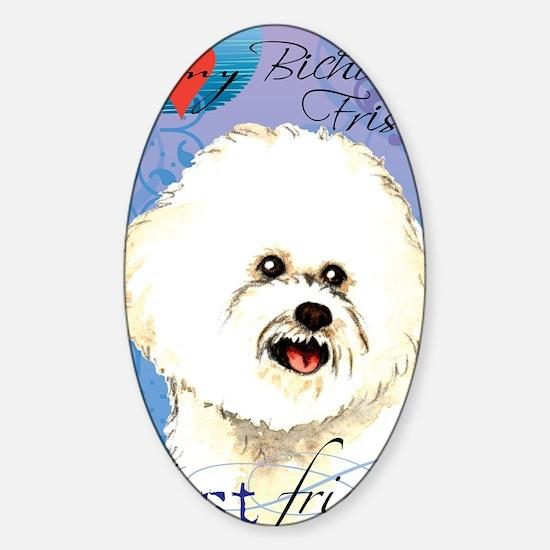 bichon-iPad Sticker (Oval)