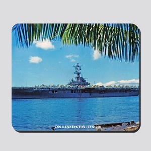 benninton framed panel print Mousepad