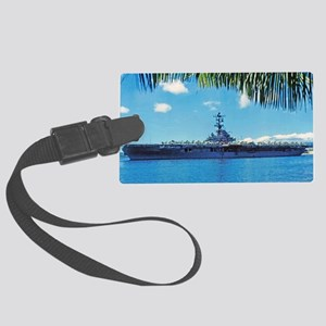 benninton lare framed print Large Luggage Tag