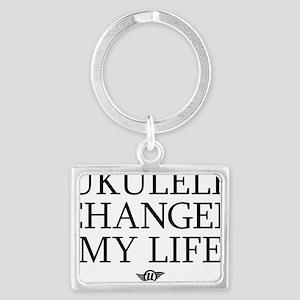 Ukulele Changed My Life Landscape Keychain