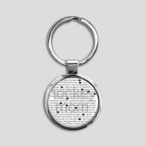 characteristics mom Round Keychain