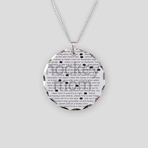 characteristics mom Necklace Circle Charm