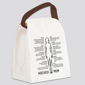 hockey mom silhouette Canvas Lunch Bag