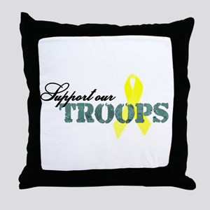 Support our troops Throw Pillow
