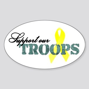 Support our troops Oval Sticker