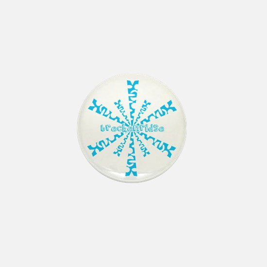 SnowflakeRetroBreckenridge Mini Button