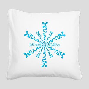 SnowflakeRetroBreckenridge Square Canvas Pillow