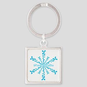 SnowflakeRetroBreckenridge Square Keychain
