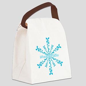 SnowflakeRetroBreckenridge Canvas Lunch Bag