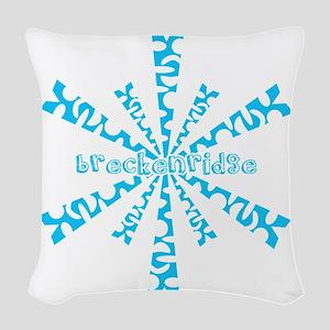 SnowflakeRetroBreckenridge Woven Throw Pillow
