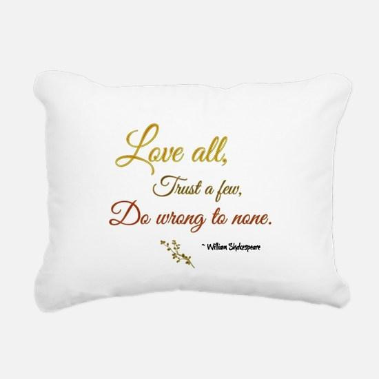 Love All ... Rectangular Canvas Pillow