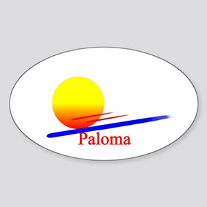 Paloma Oval Sticker