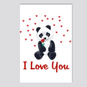 Panda Bear Love Postcards (Package of 8)