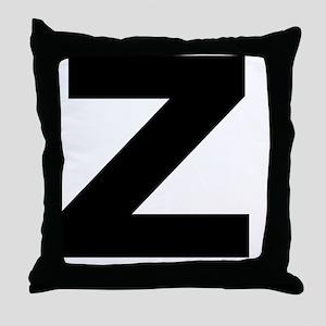 arial-black-black-z Throw Pillow